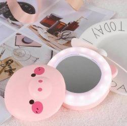 Espelho LED para Maquiagem com ventilador Porquinho