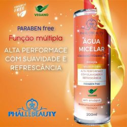 Água Micelar c/ Nano Vitamina C Phállebeauty